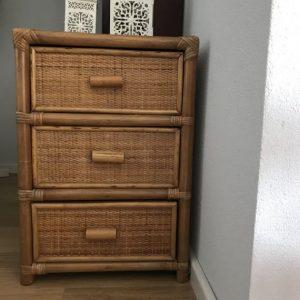 vintage rieten ladeblok