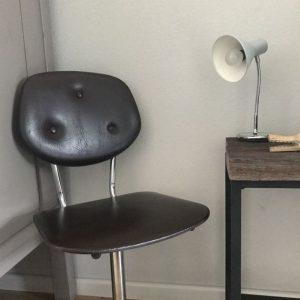 vintage bureaustoel bovenzijde