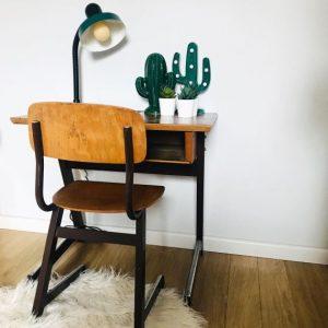 vintage bureau stoel school