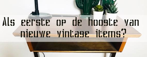 inschrijving nieuwe vintage items