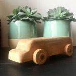 blank houten auto vintage