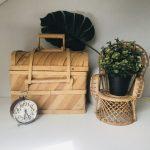 blank houten picknickmand