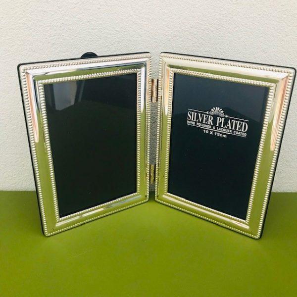 Silverplated fotolijst boekvorm