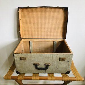 brocante koffer grijs vintage jaren 50