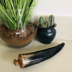 vintage hoorn paarlemoer