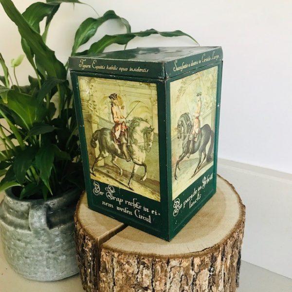 vintage duits blik paard en ruiter