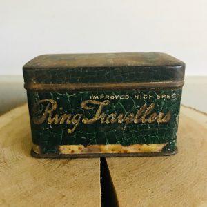 vintage ring travellers blikje