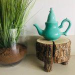 Comptoir theepotje turquoise oosterse keramiek