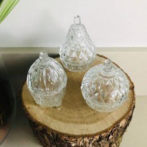vintage sauspotjes kristal