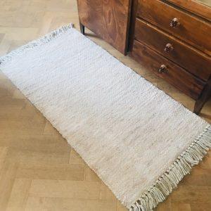 wol met katoen roomwit tapijtje vintage