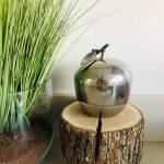 retro zilveren appel pot