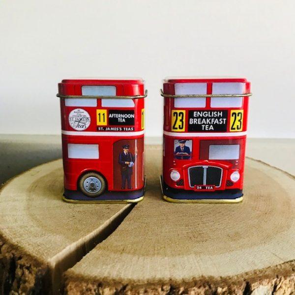 Dubbeldekker blikjes Engeland rood mini