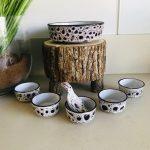 vintage hapjesschalen keramiek zwart wit