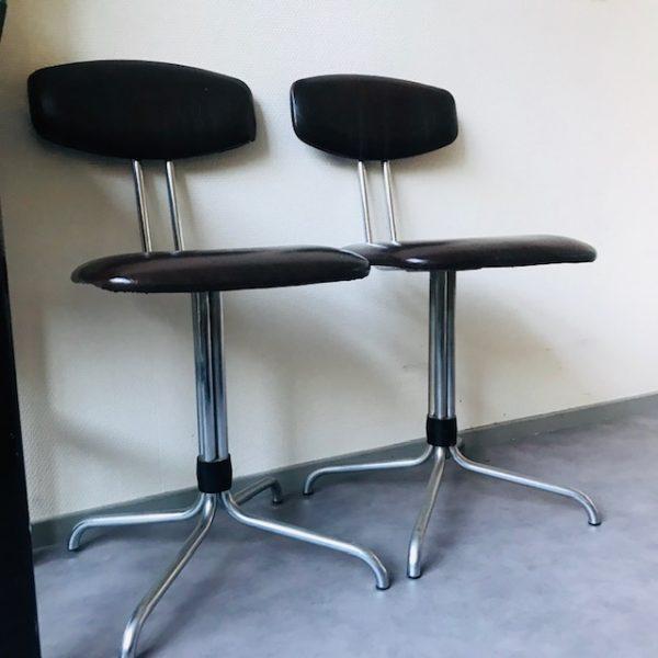 Bureaustoel 50 Euro.Retro Stoel Skai En Chroom Woodstock Design