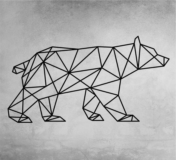 wanddecoratie grafisch beer
