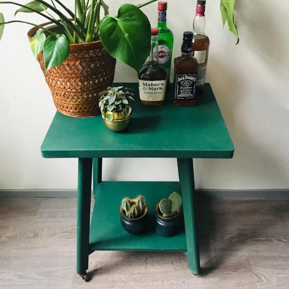 Deens design barcart Annie Sloan groen