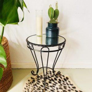 plantentafel smeedijzer zwart vintage