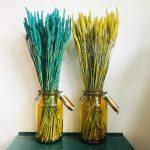 tarwe droogbloemen gekleurd boeket