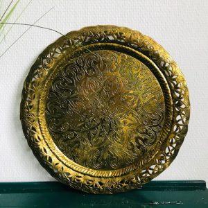 vintage gouden dienblad bewerkt