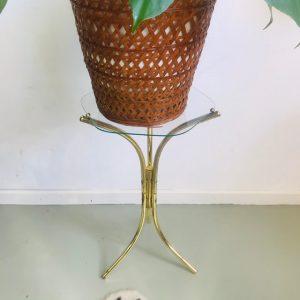 Vintage messing plantentafeltje goud