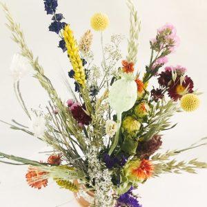 droogbloemen boeket zomer kleurig