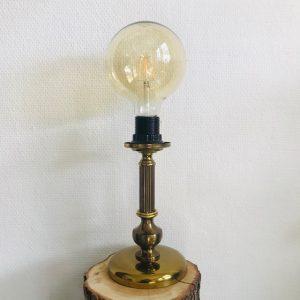 vintage messing lampenvoet zuil
