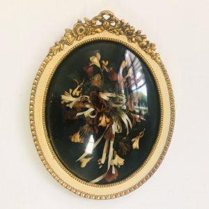Vintage droogbloemenschilderij groot