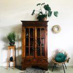 Oosterse vitrinekast teak Chinees vintage