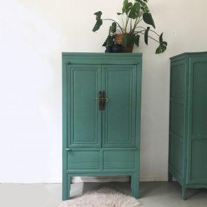 Chinese kast leem groen mat