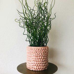 bloempot oudroze organisch keramiek