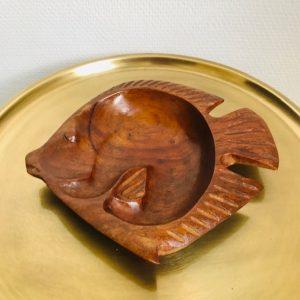 houten schaaltje vintage vis
