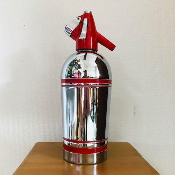 sparklets spuitfles jaren 50 chroom rood