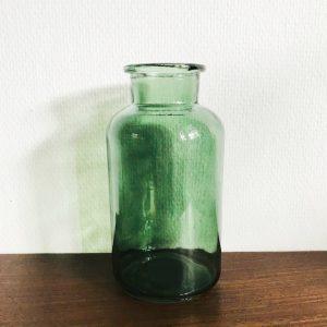 glazen vaas groen melkbus