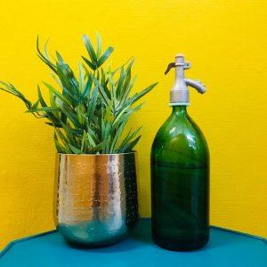 brocante spuitfles groen vintage