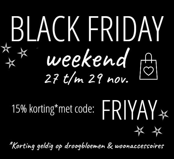 Black Friday korting vintage shop