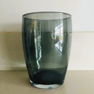 grijsblauwe vaas glas
