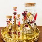 gouden droogbloemen in glas droogbloemeninspiratie