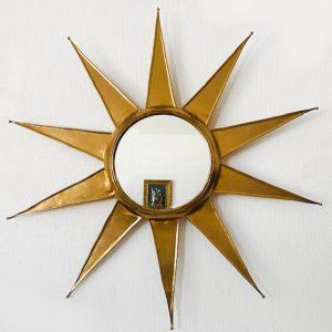 vintage zonnespiegel goud